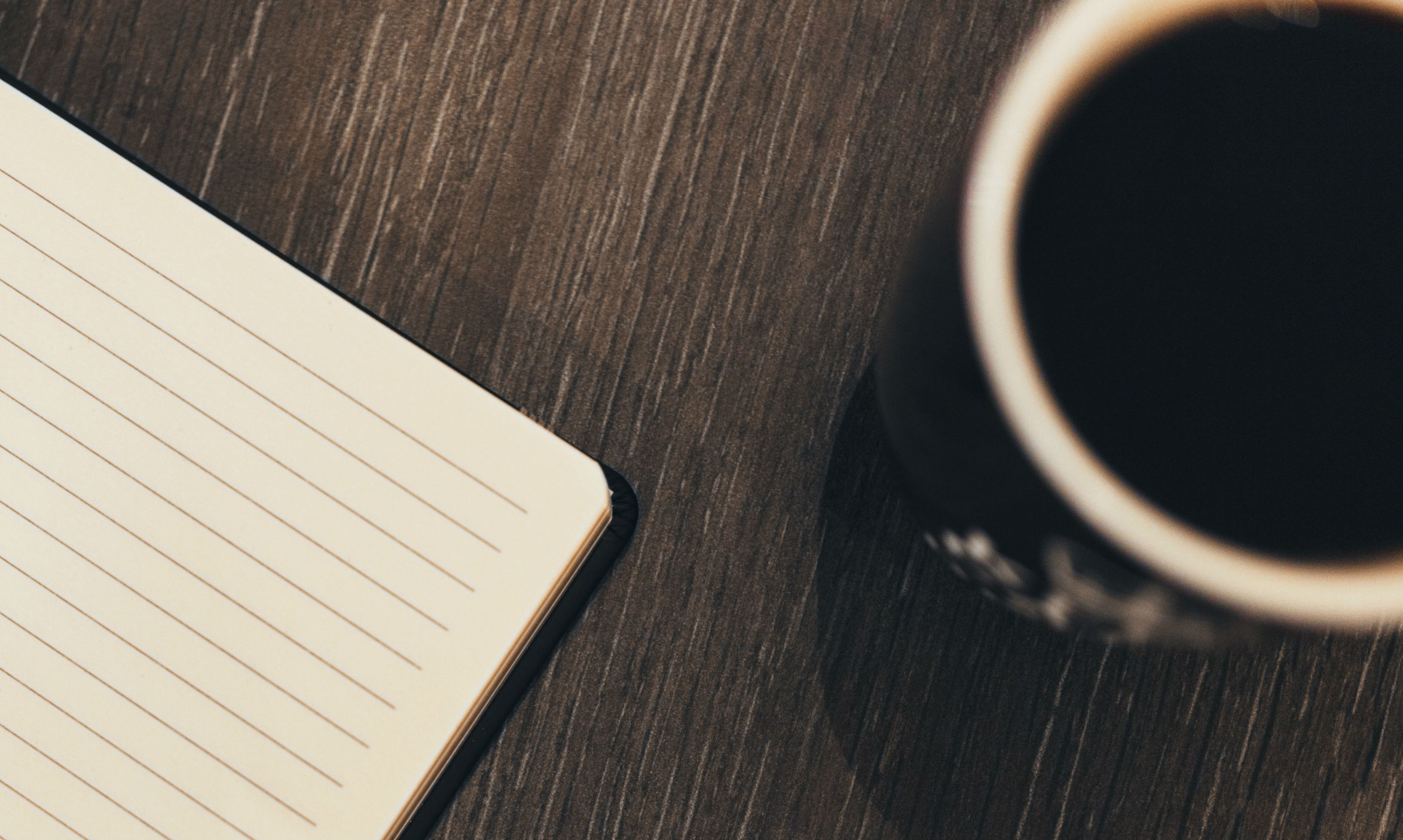 coffee and notebook